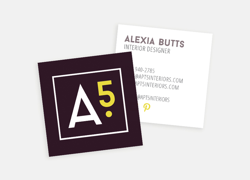 Apt5 business cards / Little Bison Studio