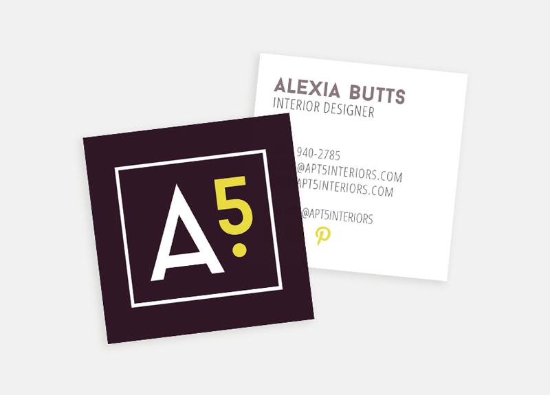 Apt5 business cards / Little Bison Studio