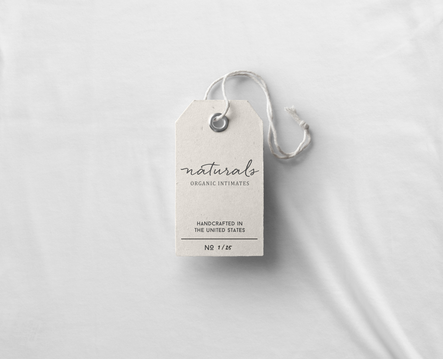 Naturals clothing tag / Little Bison Studio