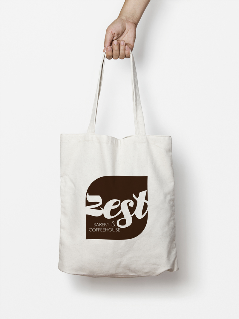 Zest Bakery & Coffeehouse tote bag / Little Bison Studio