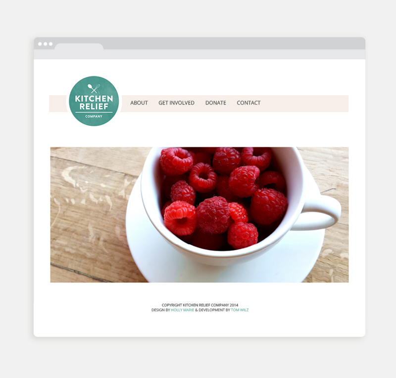 Kitchen Relief Company website / Little Bison Studio
