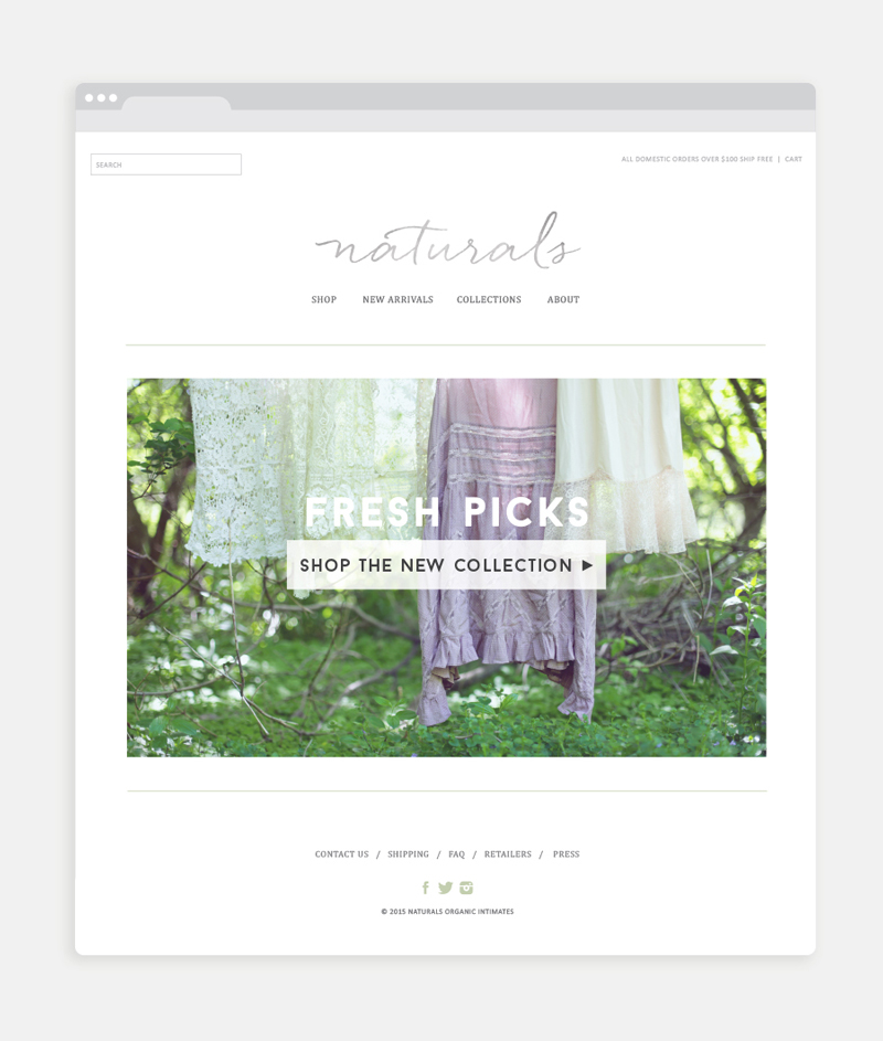 Naturals website / Little Bison Studio