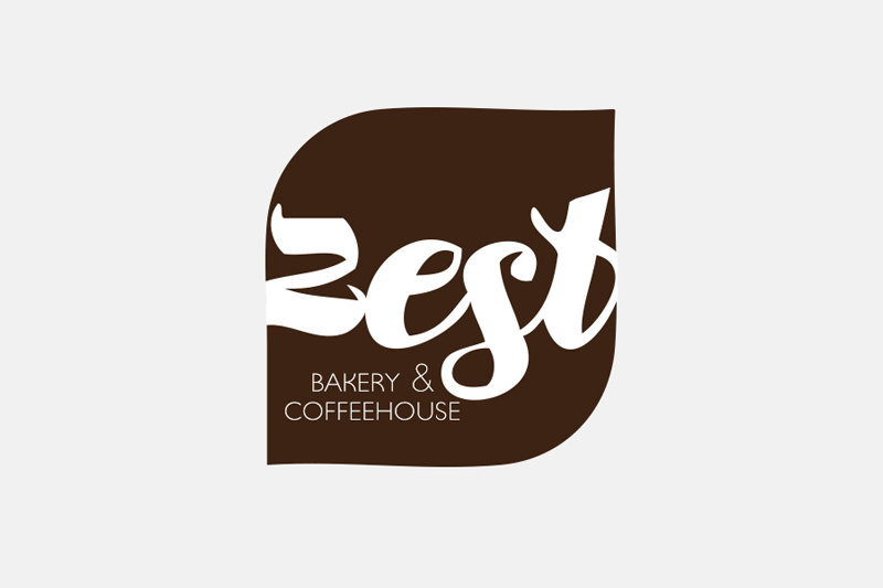Zest Bakery & Coffeehouse logo / Little Bison Studio