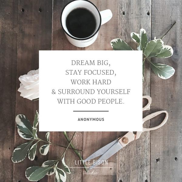 Little Bison Studio / instagram quote